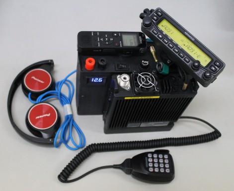 My portable satellite radio setup.